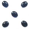 Glass Bead Flat Oval 12x9mm Strung Montana